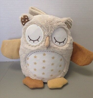 "Cloud-b Nighty Night Owl ""On the Go"" Musical Plush Crib Toy  READ"