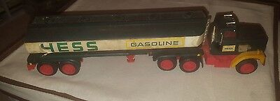 1977 Hess tanker Truck Red Switch missing some pieces lights not operational