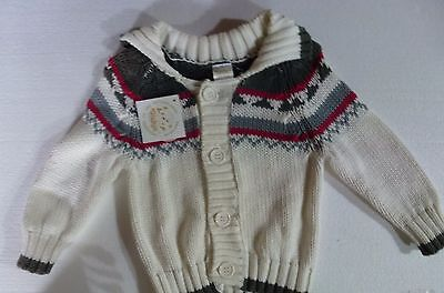 Cardigan , dominante blanche, Dickie