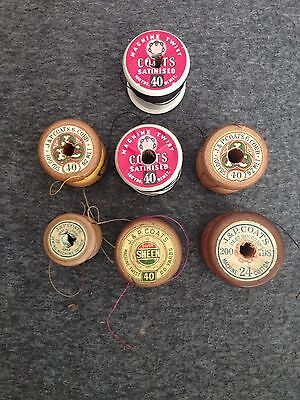 Vintage Cotton Reels Made By J&P Coats