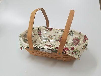 Longaberger Handwoven 2006 Nature's Garland Christmas Basket with Plastic Liner