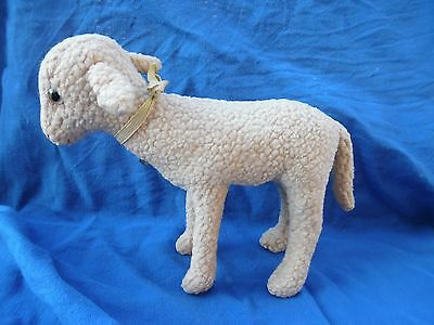 Little lamb  with bell  STEIFF old    about 1936 pre war lamb`s wool plush