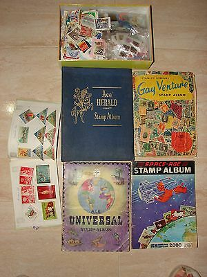 4 x Stamp Album Collection,Stamps etc. All Countries + Topics