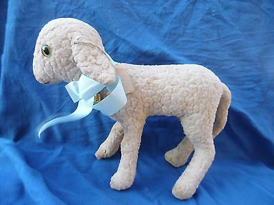 Little lamb  with bell  STEIFF old   button about 1936  lamb`s wool plush