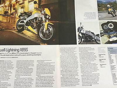Buell Lightning Xb9S - Original 2 Page 2002 Colour Motorcycle Article