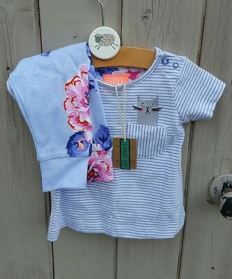 Joules baby girl 0-3 months leggings and T shirt outfit/ set BNWT
