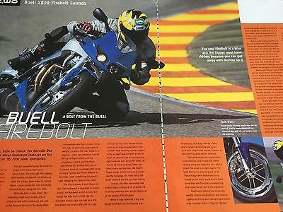 "Buell Xb9R Firebolt - Original 3 Page ""launch"" Motorcycle Article"