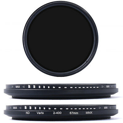 67mm ND Fader Neutral Density Adjustable Variable Filter ND2 to ND400 LF26