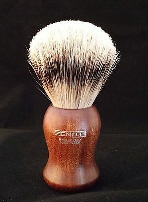 Zenith Kotibe Premium Silvertip Shave Brush. 24.5 mm. Made in Palermo, Italy P9