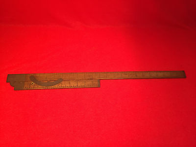 Vintage Rare Kellogg French Tailor System Rule with Brass Angle Pat'd 1880, 1883