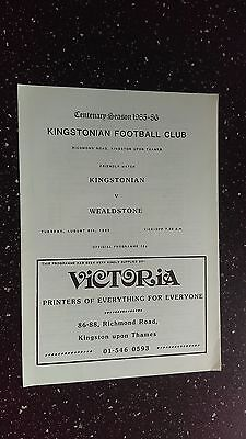Kingstonian V Wealdstone 1985-86
