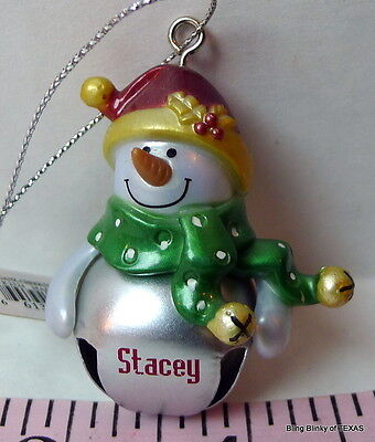 Jingle Bell STACEY Ganz Snowman Ornament