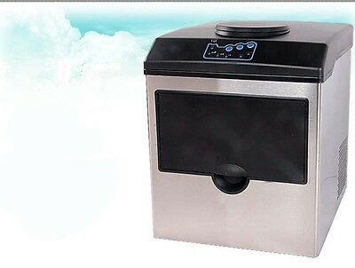 Commercial Ice Maker Connect Water Fast  Bar Dispenser Portable Ice Machine &