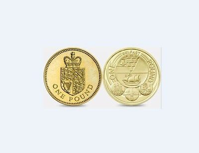 2010 BELFAST AND 1988 crowned shield of royal arms 1 POUND COIN HUNT