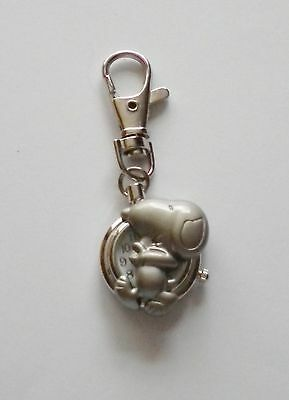 Peanuts/charlie Brown Snoopy Puppy Dog Keyring/key Chain Pendant Pocket Watch