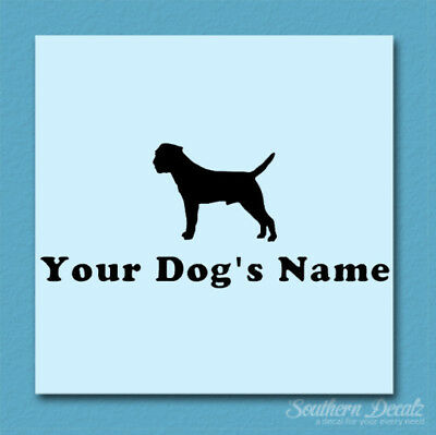 Custom Border Terrier Dog Name Decal Sticker - 25 Colors - 6 Fonts