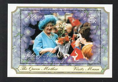 Isle Of Man Mnh 2000 Ms881 The Queen Mother's Century