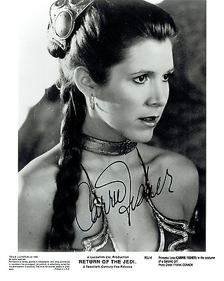 Star Wars Return of the Jedi - Carrie Fisher / Princess Leia - Cast Signed '000'