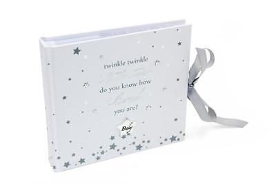 """Baby Gift Twinkle Twinkle Little Star Photo Album 4x6"""" 50 Photos Boxed CG1424"""