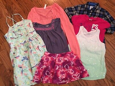 Girls Size 12 14 Lot Of Clothes. Tops Dress Skirt Justice