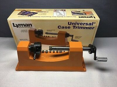 (I) Lyman universal case trimmer w/8 pilots Really Good Cond.Free US Shipping
