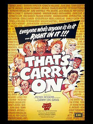 "Thats Carry On 16"" x 12"" Reproduction Movie Poster Photograph"
