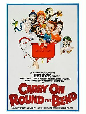"Carry on around the bend 16"" x 12"" Reproduction Movie Poster Photograph"
