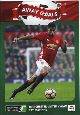 2016/17   Ajax  v  Manchester United   Europa League Final  16 Pages   MINT