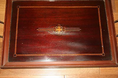 """Royal Rochester 011752 Cherry Wood Brass Handle Tray 12 1/4"""" X 17 1/8"""""""