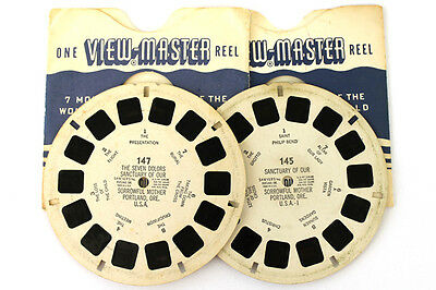Lot of 2: Sawyer's View-Master Sanctuary Sorrowful Mother Typeset Reels #145-147