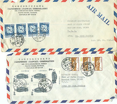 Taiwan  Airmail Covers To Usa