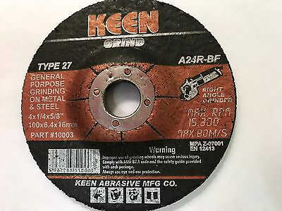 "1 Keen 4"" Dia General Purpose Grinding Wheel #10003"