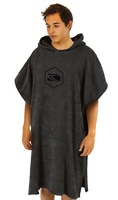 Carve Youth Unisex Radiator Beach Poncho Towel - Charcoal
