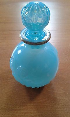 Vintage AVON  aqua glass bottle