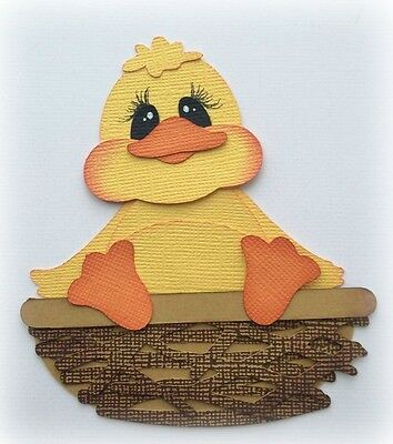 Chick In  Nest Spring  Easter  Premade Paper Piecing  3D Die Cut Mytb Kira