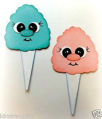 *new* Shoppies Set Of 2 Cotton Candy Treat Premade Paper Piecing Die Cut By Kira