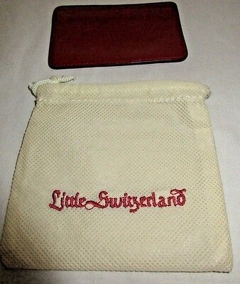 Little Switzerland Luxury Jeweler/st Thomas/red Leather Credit Card Wallet