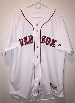 2015-17 Hanley Ramirez Team Issued Red Sox Home Jersey White Sz 50