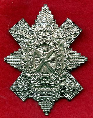 "WW2 Canada "" The Black Watch "" Royal Highlanders Regiment Cap Badge"
