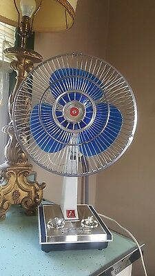 "Vintage Mitsubishi Fan 12"" with Timer aka KDK Sanyo Galaxy"