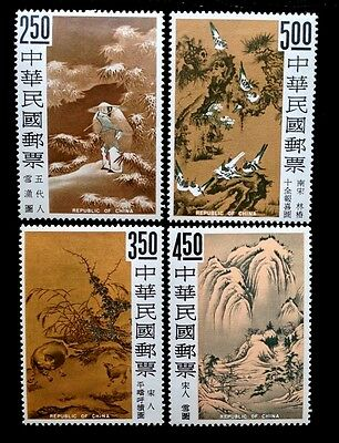 Taiwan Stamps 1966 Paintings, Fishing on a Snowy SC#1479-82 CV$139 MVLH Full Set