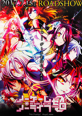 No Game No Life Zero 2017 Anime Alt Japanese Chirashi Mini Movie Poster B5