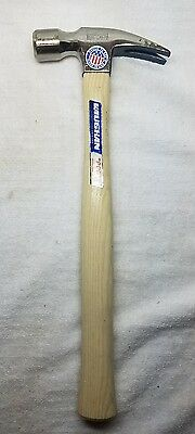 "VAUGHAN 999 Smooth Face Straight Claw Rip Hammer w/ 14"" Hickory Handle, NOS, USA"