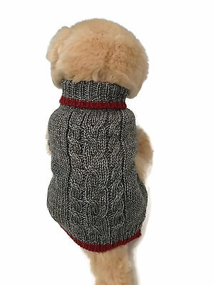 Small dog warm wool blend winter sweater. pet clothes winter apparel, puppy