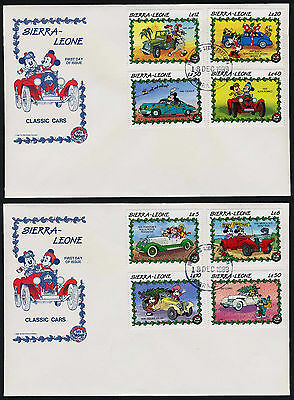 Sierra Leone 1147-56 on FDC's Disney, Classic Cars, Christmas, Mickey Mouse
