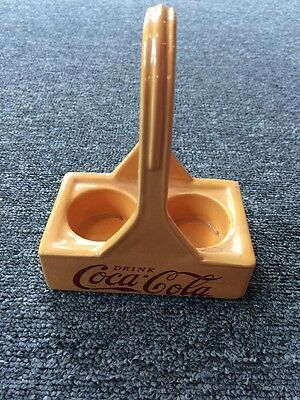 Vintage Drink  Coca Cola Yellow Carton Earthenware 2002 Salt And Pepper Holder