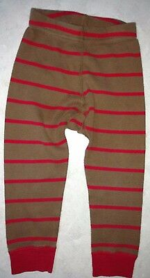 Hanna Andersson Organic Cotton Knit Pants Sz 80 18-24 Months Brown Red Leggings