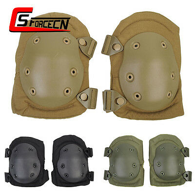 Outdoor Tactical Knee Pads Protective Pad Cushion Gear Skating Airsoft Military