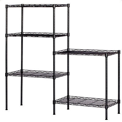 "60""x22""x12"" Heavy Duty 5 Tier Wire Shelving Rack Adjustable Shelf Storage Unit"