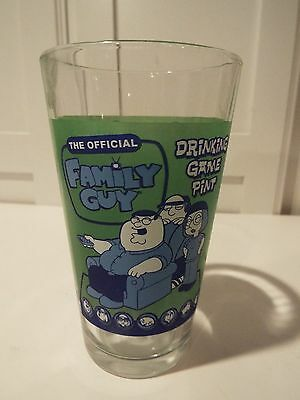 """Family Guy Official Drinking Game Pint Glass NEVER USED  6"""" COLLECTIBLE"""
